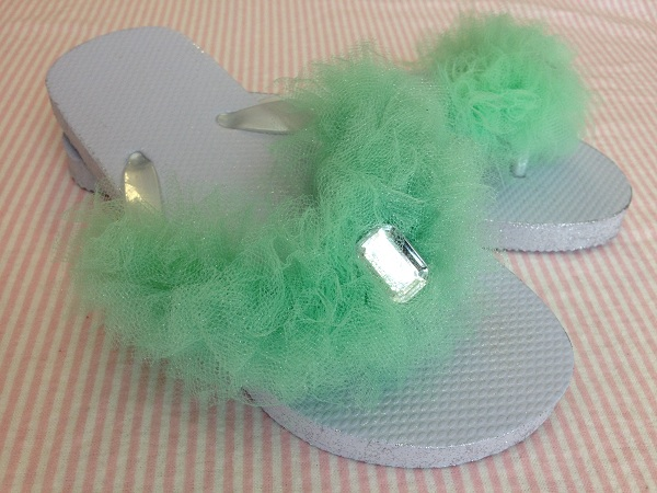 ddcfa2a8b How to Make Fun   Fluffy Flip-Flops with Tulle