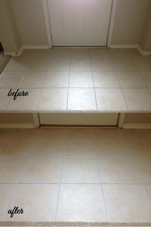 Easy Way To Freshen Up Grout Around Tile
